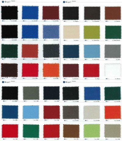 Colores Sillas de Oficina, Grupo 1