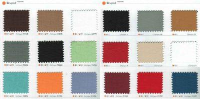 Colores Sillas de Oficina, Grupo 3